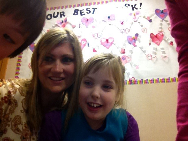 With Maddie's teacher from K to 2nd Grade, Ms Shepperd.